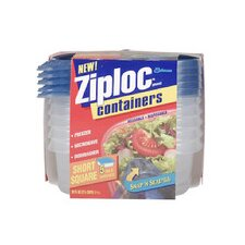 <strong>Johnson Wax</strong> Ziploc Short Square Container (Set of 5)