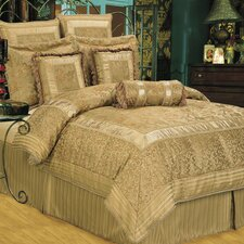 Golden Scrolls Comforter Set