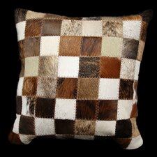 Safari Small Patchwork Genuine Leather Pillow