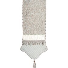 Swanson Table Runner with Cord, Tassel Trim and Tassels and Velvet Braid
