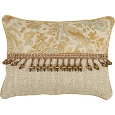 St. Lucia Synthetic Pillow with Cord and Ball Trim