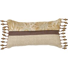St. Lucia Synthetic Pillow with Ball Tassel Trim