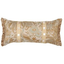 St. Lucia Synthetic Pillow with Shell Buttons and Wide Braid