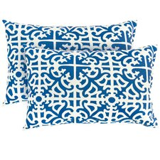 Rectangular Outdoor Polyester Accent Pillows (Set of 2)