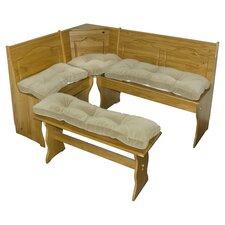 Nook Cherokee 4 Piece Solid Microfiber Cushion Set