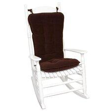 Standard Cherokee Solid Rocking Chair Cushion Set