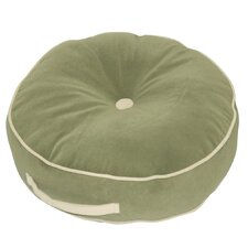 <strong>Greendale Home Fashions</strong> Hyatt Fabric Round Floor Nylon Pillow