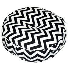 <strong>Greendale Home Fashions</strong> Zig Zag Fabric Round Floor Cotton Pillow