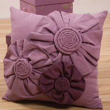 Daphne Decorative Pillow with Fabric Rose