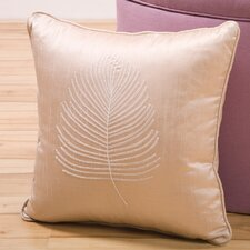 Organic Decorative Pillow with Embroidery