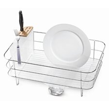 Slim Dish Rack in Brushed Stainless Steel