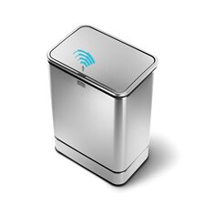 55 Litres Rectangular Sensor Rubbish bin in Brushed Stainless Steel