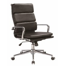 Modrest Edge Modern High-Back Leather Office Chair