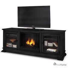 "<strong>Real Flame</strong> Hudson 68"" Ventless TV Stand with Gel Fuel Fireplace"