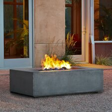 Baltic Fiber Soncrete / Steel Natural Gas Fire Pit Table