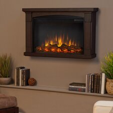 Slim Brighton Wall Mounted Electric Fireplace