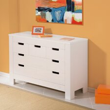 Balthasar Pine Chest of 5 Drawers in White
