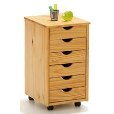 Nils Rolling File Cabinet with Six Drawers
