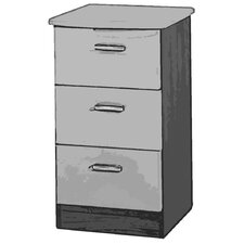 Mayfair 3 Drawer Bedside Table
