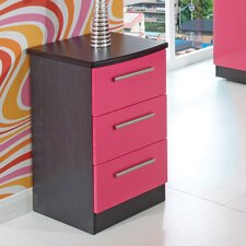 <strong>Welcome Furniture</strong> Knightsbridge 3 Drawer Bedside Table