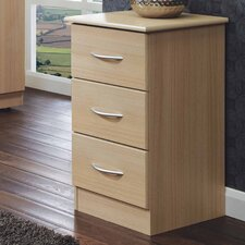 Avon 3 Drawer Bedside Table
