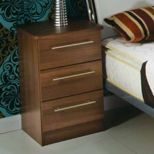 Sherwood 3 Drawer Bedside Table