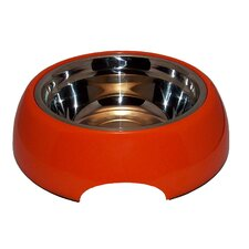 Orange Steel Pupaya Dog Bowl