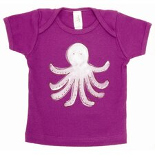 Octopus Lap T Shirt in Purple