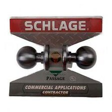 <strong>Schlage</strong> Passage Set Orbit Knob Contractor Series
