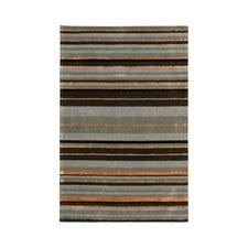 Ashlee Grey Stripe Rug