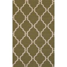 Flat Weave Green Rug