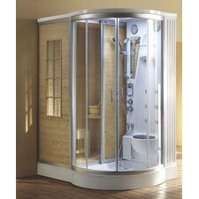 Sliding Door Dual Sauna and Steam Shower Unit