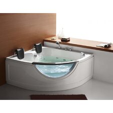 "59"" x 59"" Two Person Corner Rounded Whirlpool Tub"