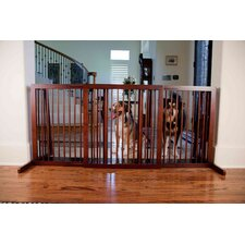 Slide Pet Gate in Walnut