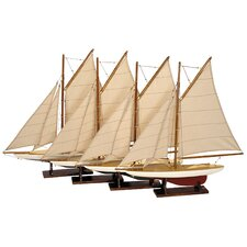 Mini Pond Model Yacht (Set of 4)