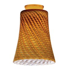 Mini Pendant with Glass Concave Bell Shade in Amber Twist