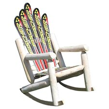 <strong>Ski Chair</strong> Ski Adirondack Log Rocker