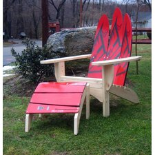 <strong>Ski Chair</strong> Water Ski Adirondack Chair and Ottoman