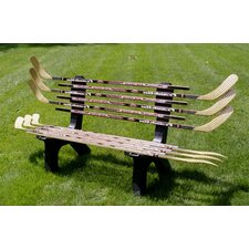 <strong>Ski Chair</strong> Hockey Stick Recycled Plastic Garden Bench