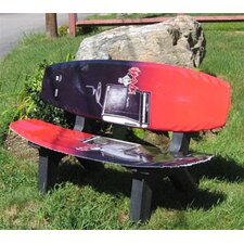 <strong>Ski Chair</strong> Wake Board Recycled Plastic Garden Bench