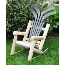 Children's Hockey Adirondack Log Chair