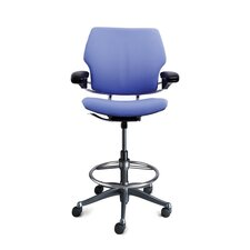 Height-Adjustable Drafting Chair with Footring