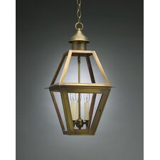 <strong>Northeast Lantern</strong> Boston Candelabra Sockets 3 Light Hanging Lantern