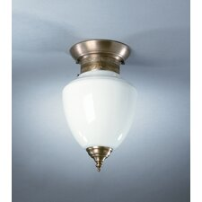 Vintage 1 Light Semi Flush Mount