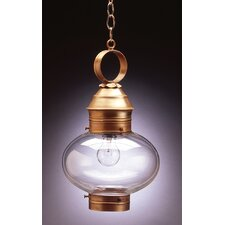 Onion Medium Base Socket No Cage 1 Light Hanging Lantern