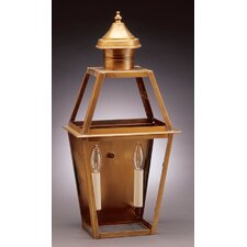 <strong>Northeast Lantern</strong> Uxbridge 2 Candelabra Sockets Tapered Wall Lantern