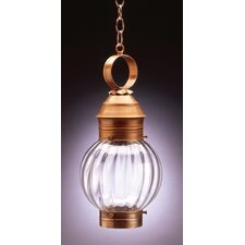 Onion Medium Base Socket No Cage Round 1 Light Hanging Lantern