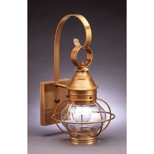 Onion Medium Base Socket Caged Wall Lantern