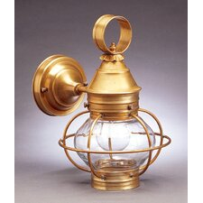 Onion Medium Base Socket Cage with No Scroll Wall Lantern