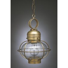 Onion Medium Base Socket Small Cage 1 Light Hanging Lantern